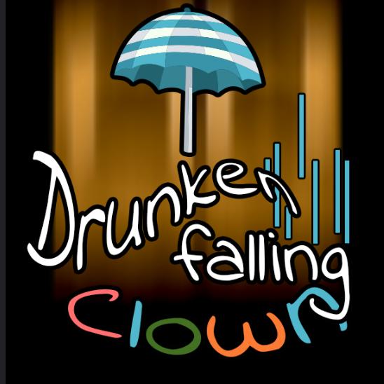 drunken, falling clown