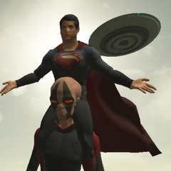 the superman: theme is aliens