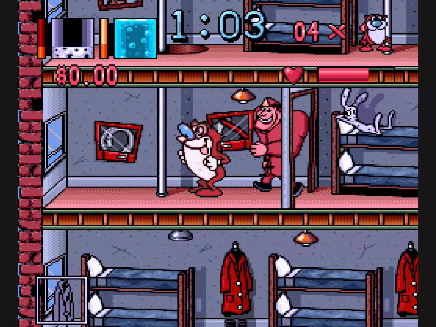 play the ren stimpy show fire dogs on snes emulator online