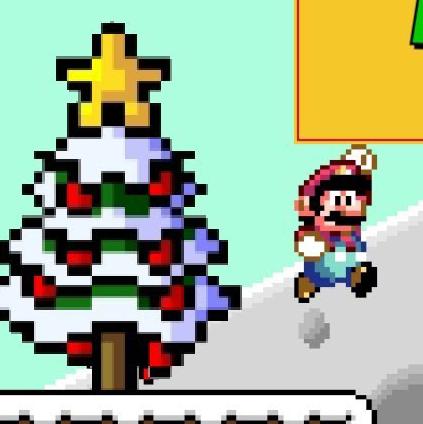 Christmas Mario Png.Play Mario Saves Christmas On Snes Emulator Online